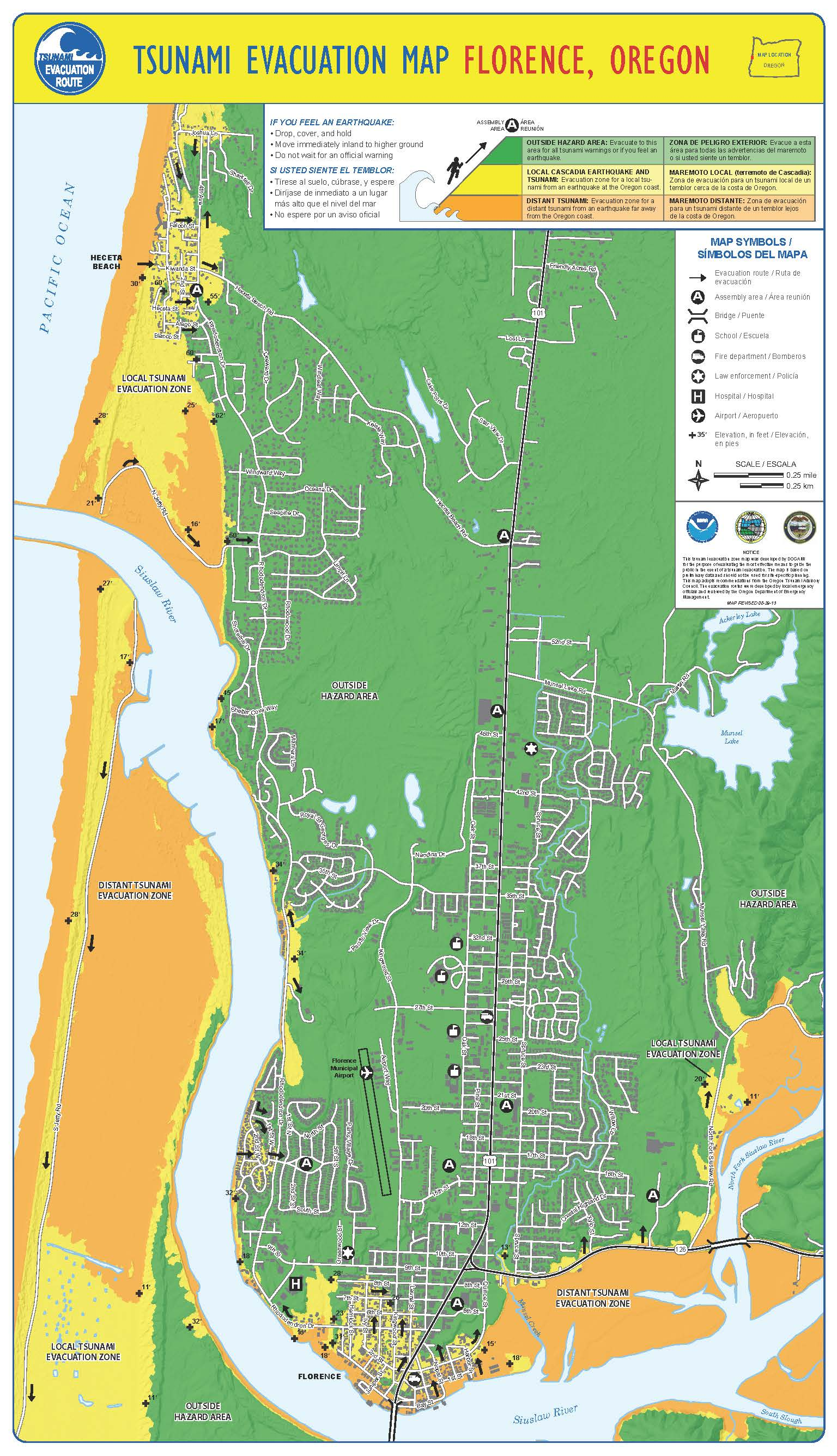 Tsunami Evacuation Maps | City of Florence Oregon